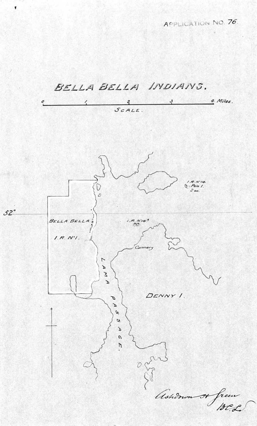 Location of the Bella Bella Indian Reserve